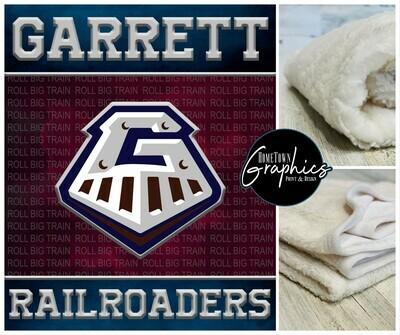 Custom Designed Garrett Silk Touch Sherpa Blanket