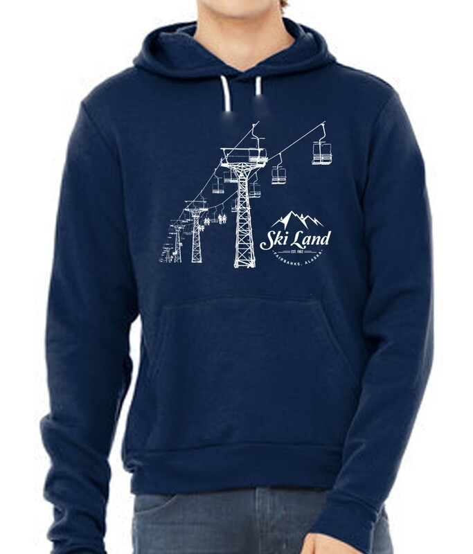 Ski Land Chairlift Silhouette Hoodie