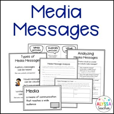 Media Messages Activities