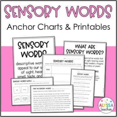 Sensory Words Activities