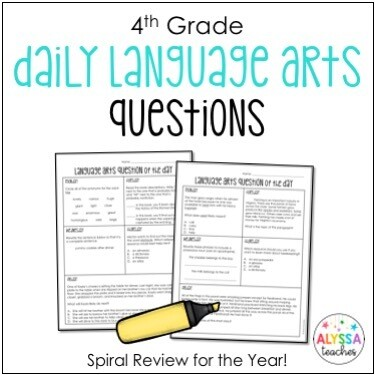 Daily Language Arts Review Worksheets