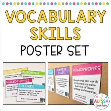 Word Analysis/Vocabulary Skills Posters