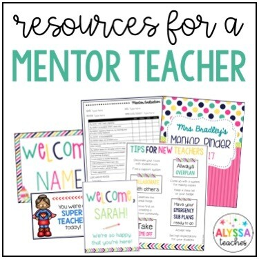 Mentor Teacher Resources