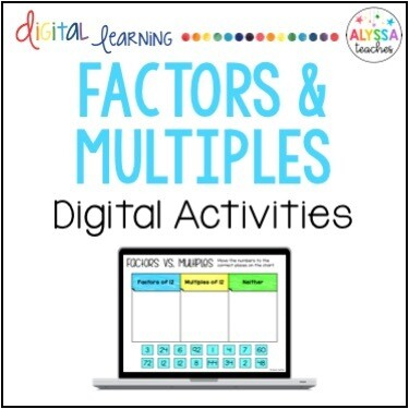 Digital Factors and Multiples Activities