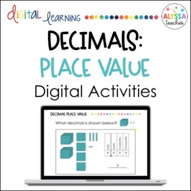 Digital Decimal Place Value Activities