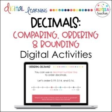 Digital Rounding, Comparing, Ordering Decimals Activities
