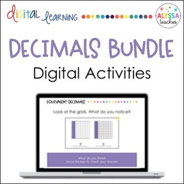 Digital Decimals Activities Bundle