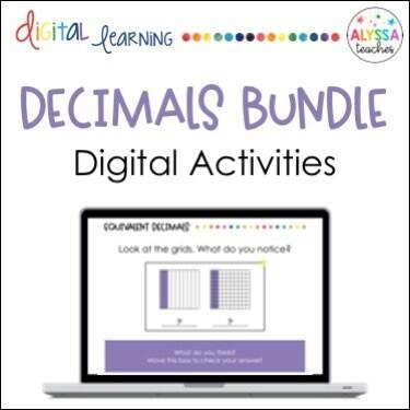 Digital Decimals Activities Bundle