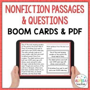 Nonfiction Passages and Questions (Print & Digital)