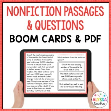 Nonfiction Passages and Questions (Print & Digital)