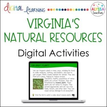 Digital Virginia's Natural Resources Activities