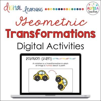 Digital Geometric Transformations Activities