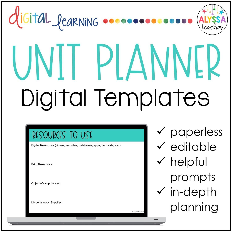 Digital Unit Plan Templates