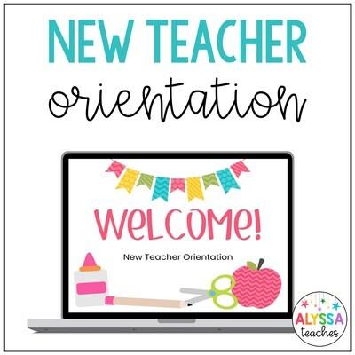 Editable New Teacher Orientation