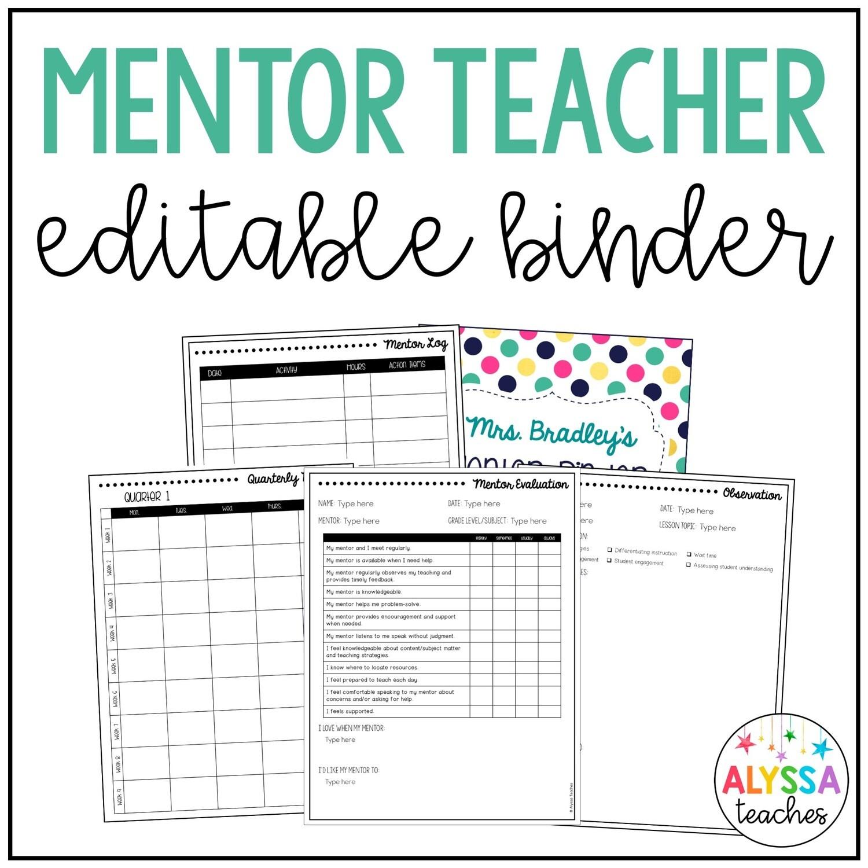 Mentor Teacher Binder