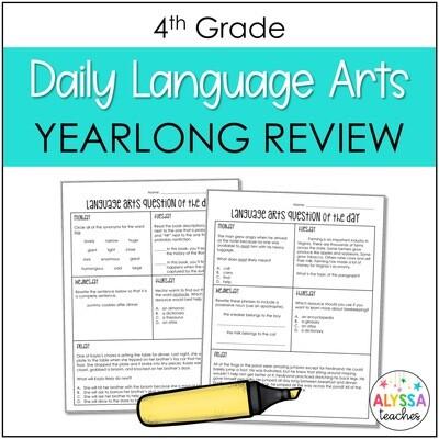 Daily Language Arts Review Worksheets