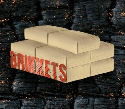 100кг древесно-угольных брикетов BRIKKETS (10х10)
