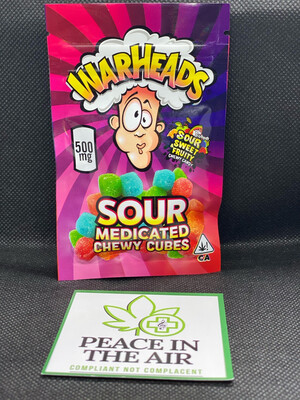 Warheads Chewy Cubes 500mg