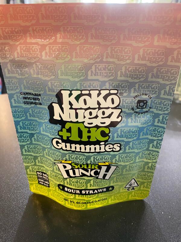 Koko Nuggz Sour Punch Straws