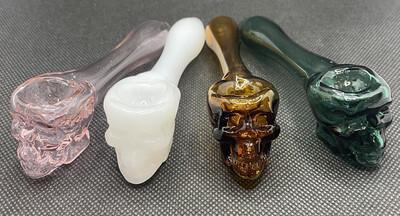 Skull Glass Pipe