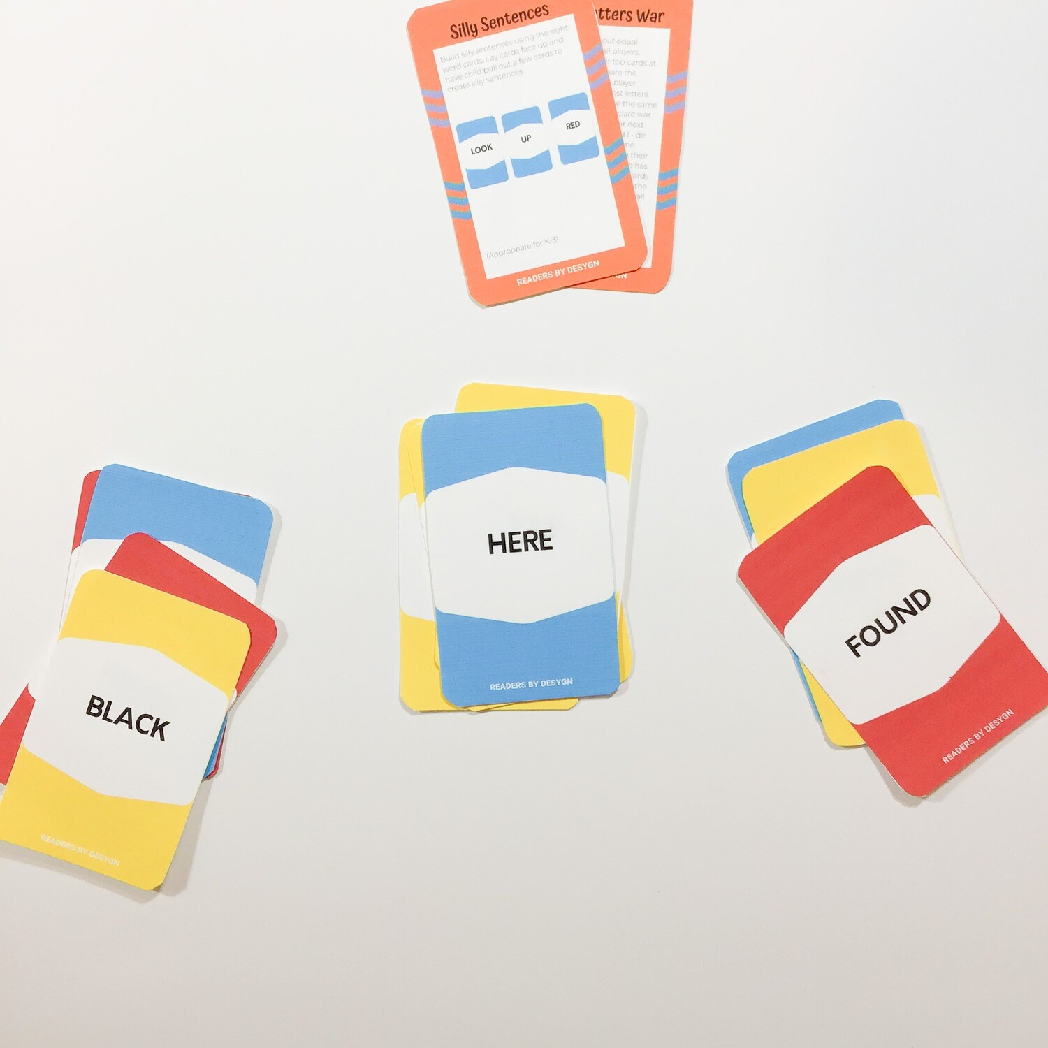 Oversight Kindergarten Sight Word Card Games