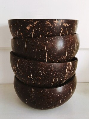 Coconut Bowls - Family pack of 4 bowls
