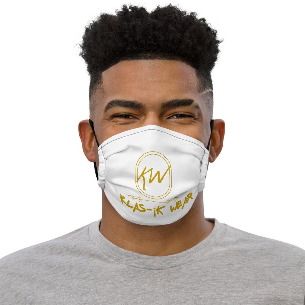 White Klas-ik Wear Premium Unisex face mask