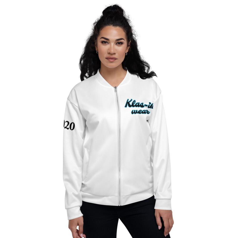 Women's White KW Bomber Jacket