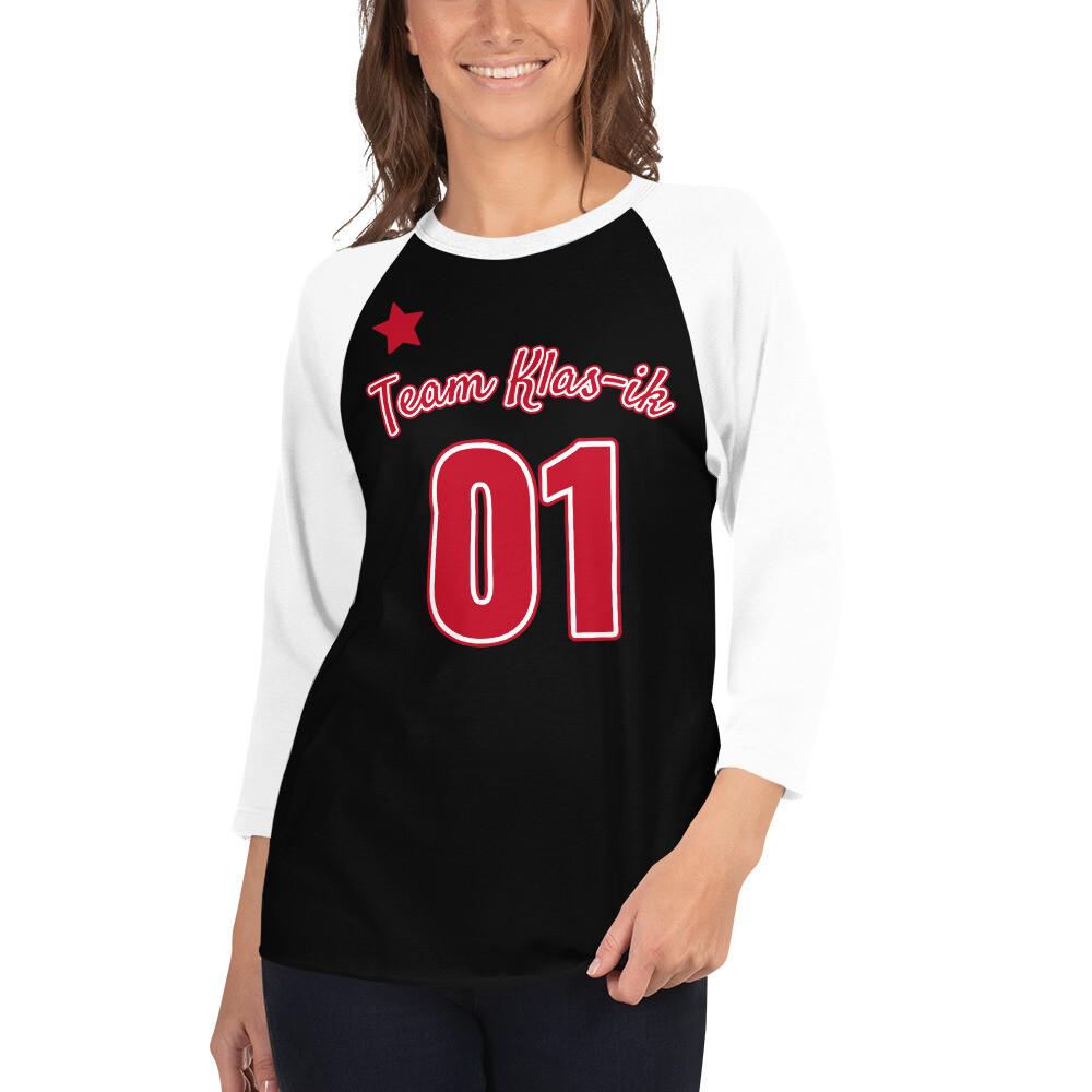 Klas-ik Wear 3/4 sleeve raglan jersey shirt
