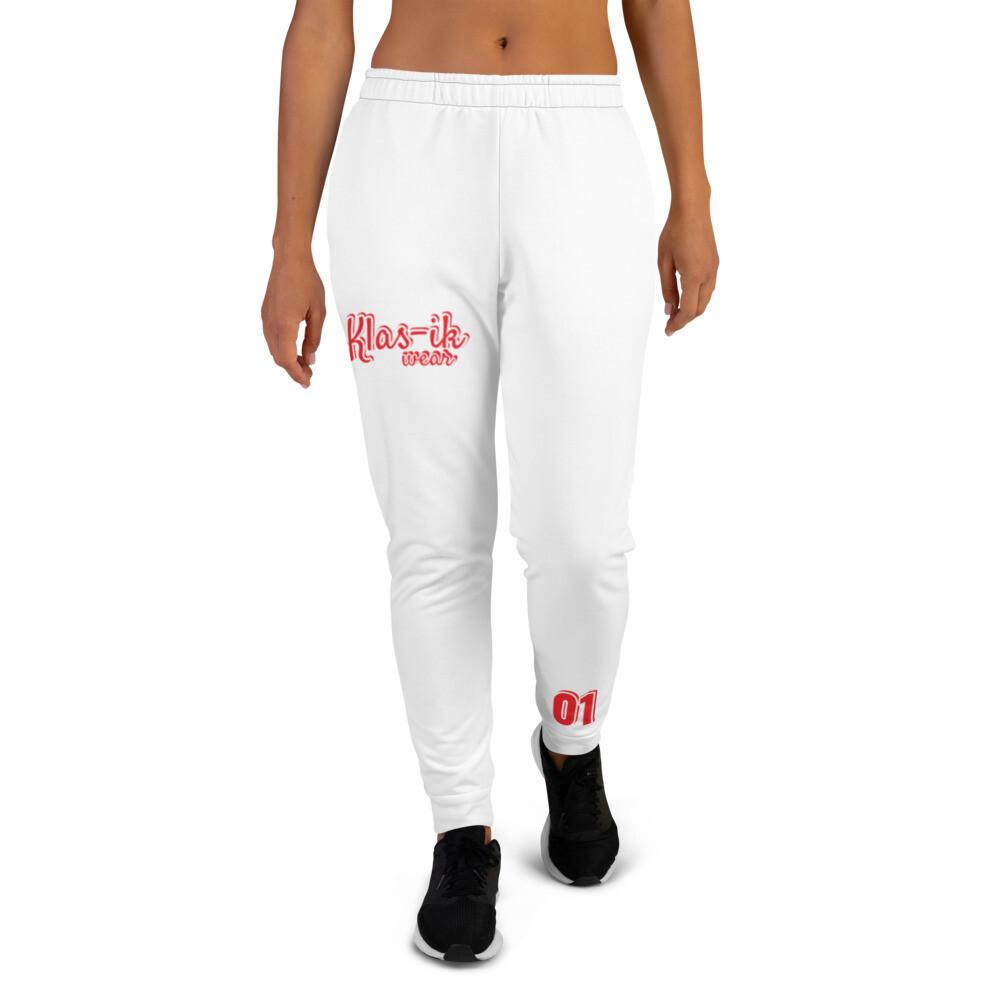 White Klas-ik 01 Women's Joggers