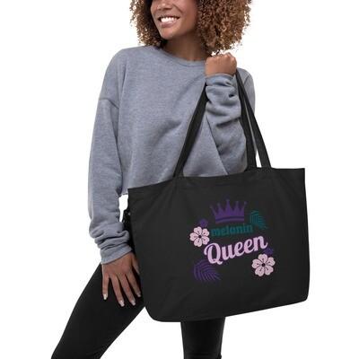 Black Large organic tote bag