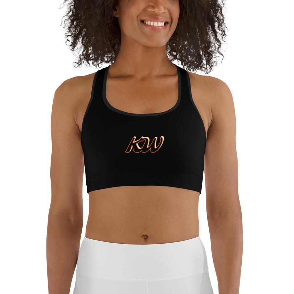 Black KW Sports bra
