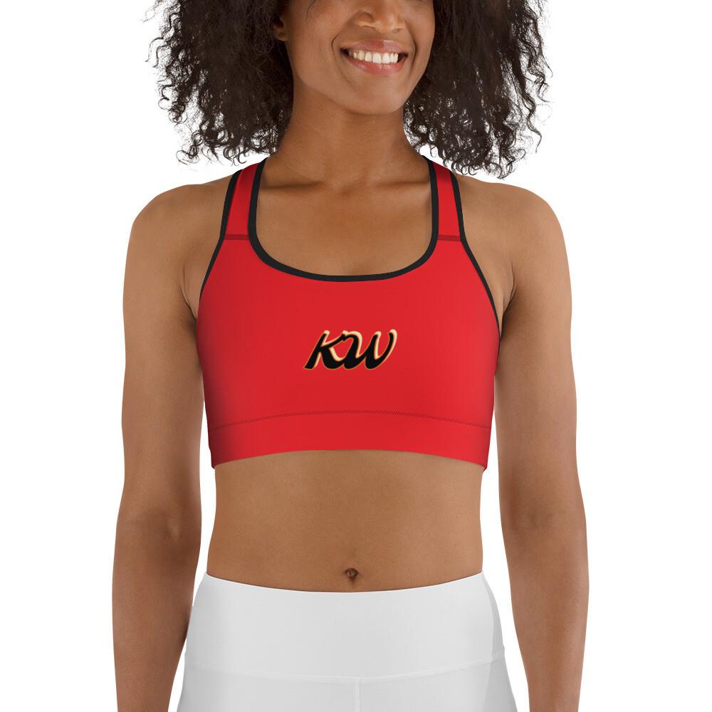 Red KW Sports bra