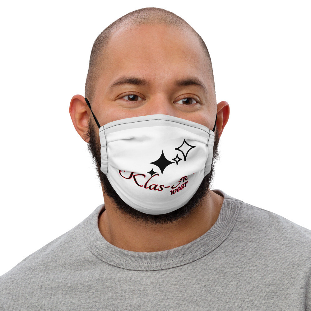 Gray Trimmed KW face mask