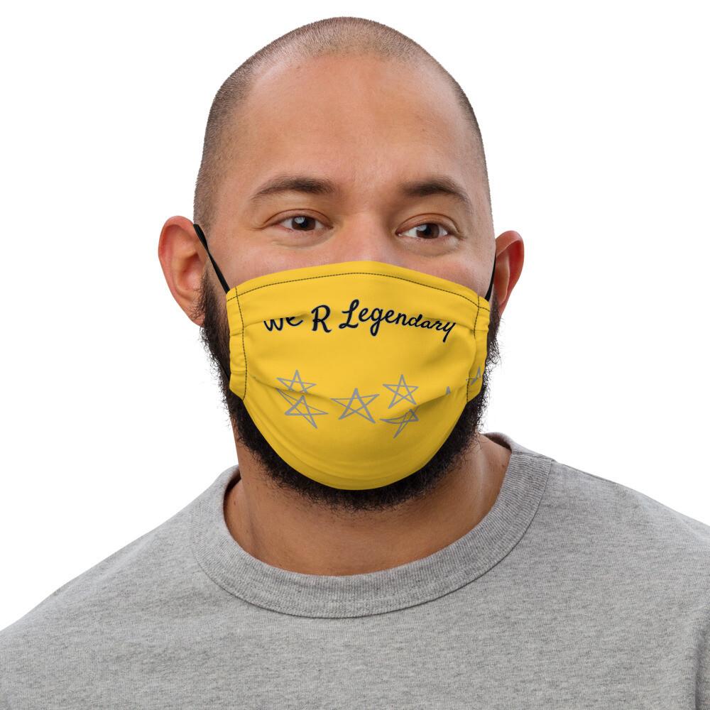 Gold Starred Lagendary face mask