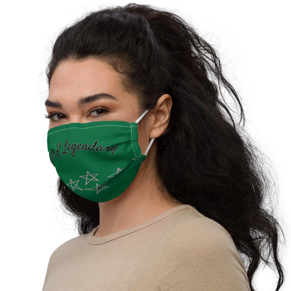 Green Starred Legendary face mask
