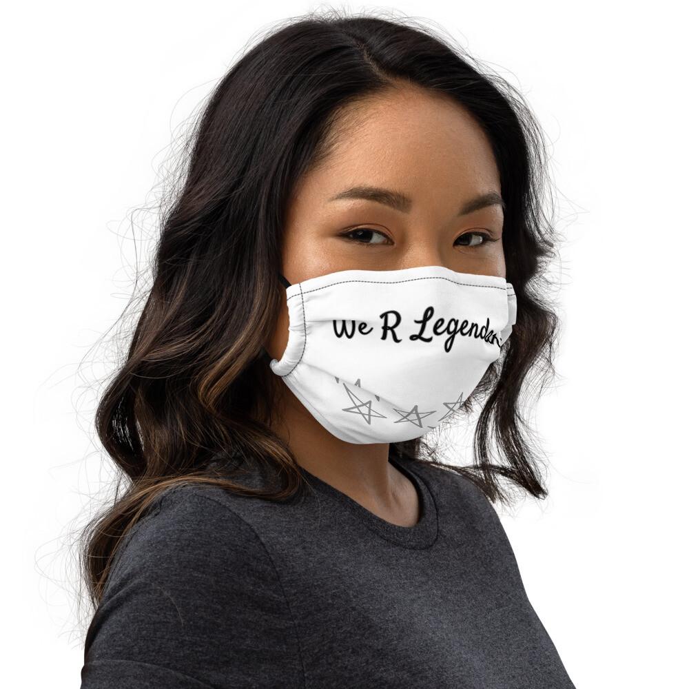 Premium All White Starred Legendary face mask