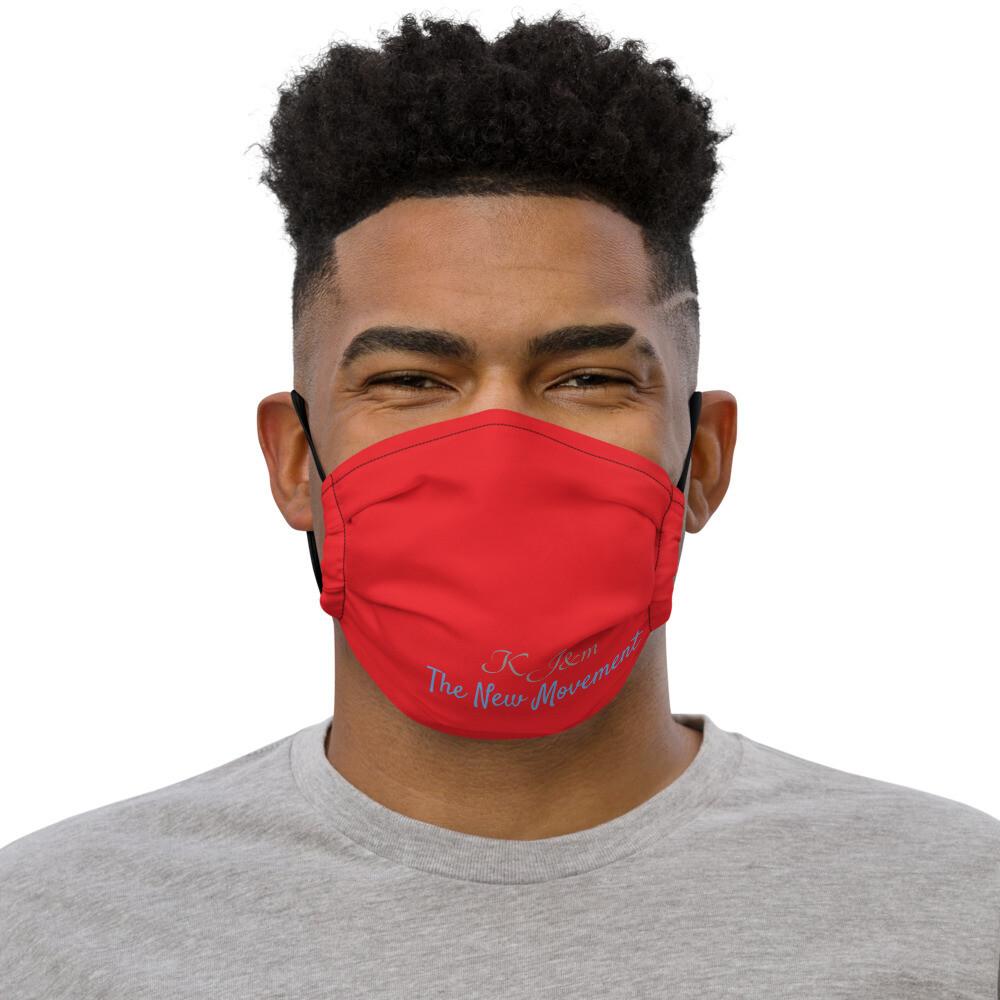 Red Kj&m face mask