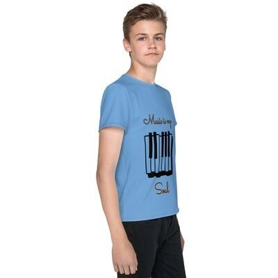 Blue Youth Slogan T-Shirt
