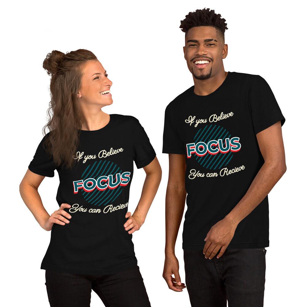 Focus Slogan Short Sleeve T-Shirt