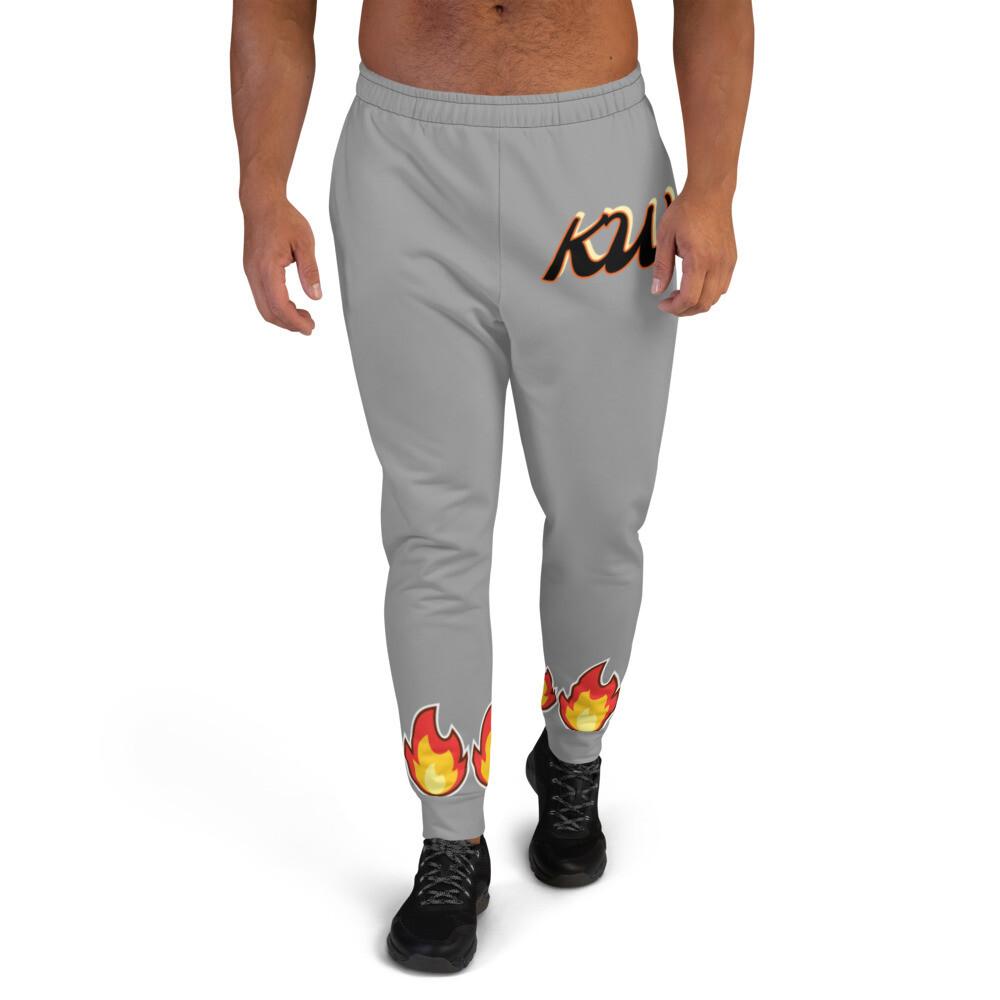 Gray KW Flammable Men's Joggers