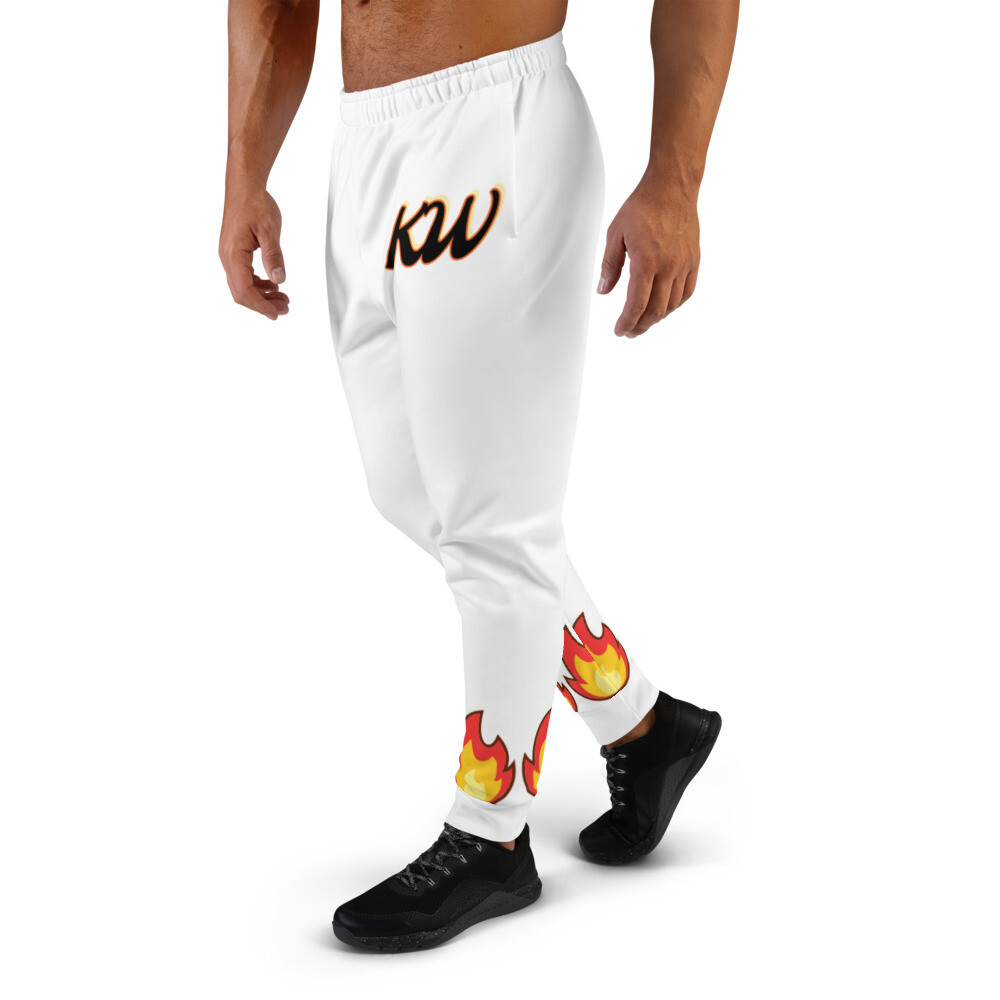 White KW Flammable Men's Joggers