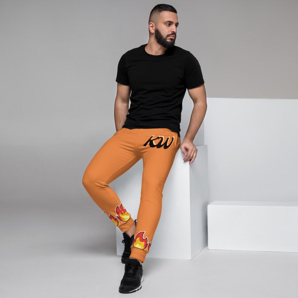 Orange KW Flammable Men's Joggers