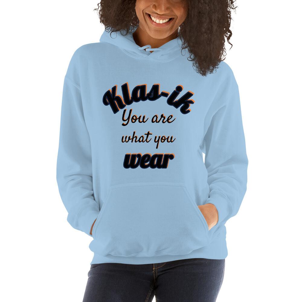 Navy Klas-ik Wear Slogan Unisex Hoodie