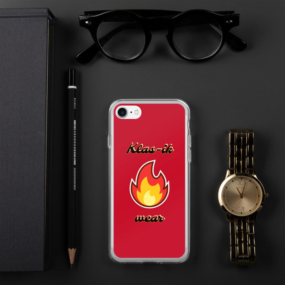 Red Klas-ik Wear iPhone Case