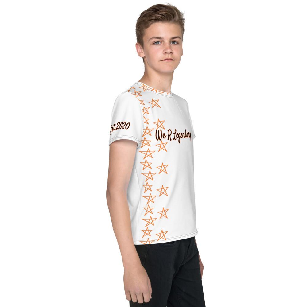 White Youth We R Legendary T-Shirt