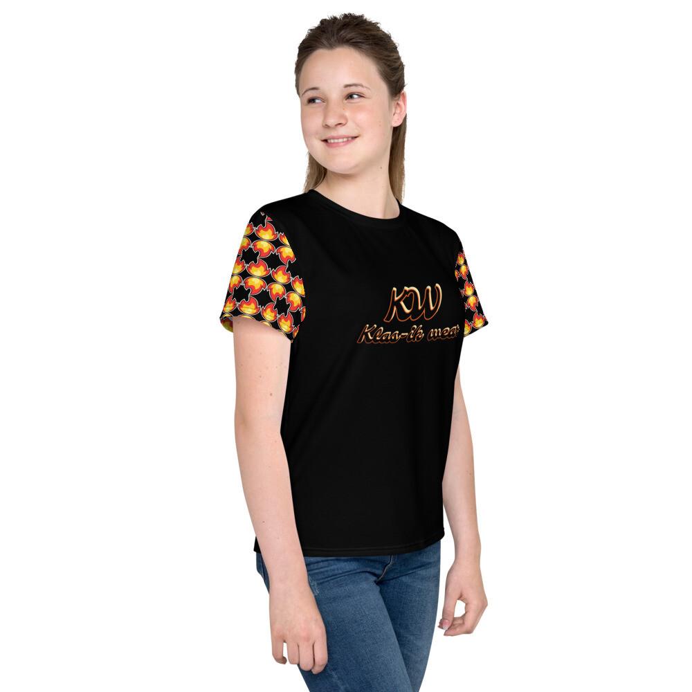Black New Flame Klas-ik Wear Youth T-Shirt