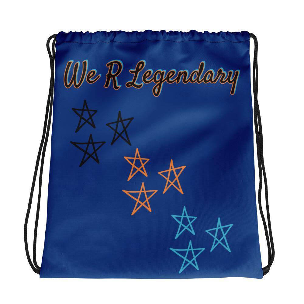 Royal Blue WRL Drawstring bag