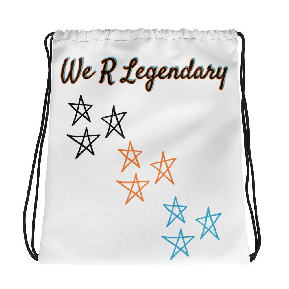 White We R Legendary Drawstring bag