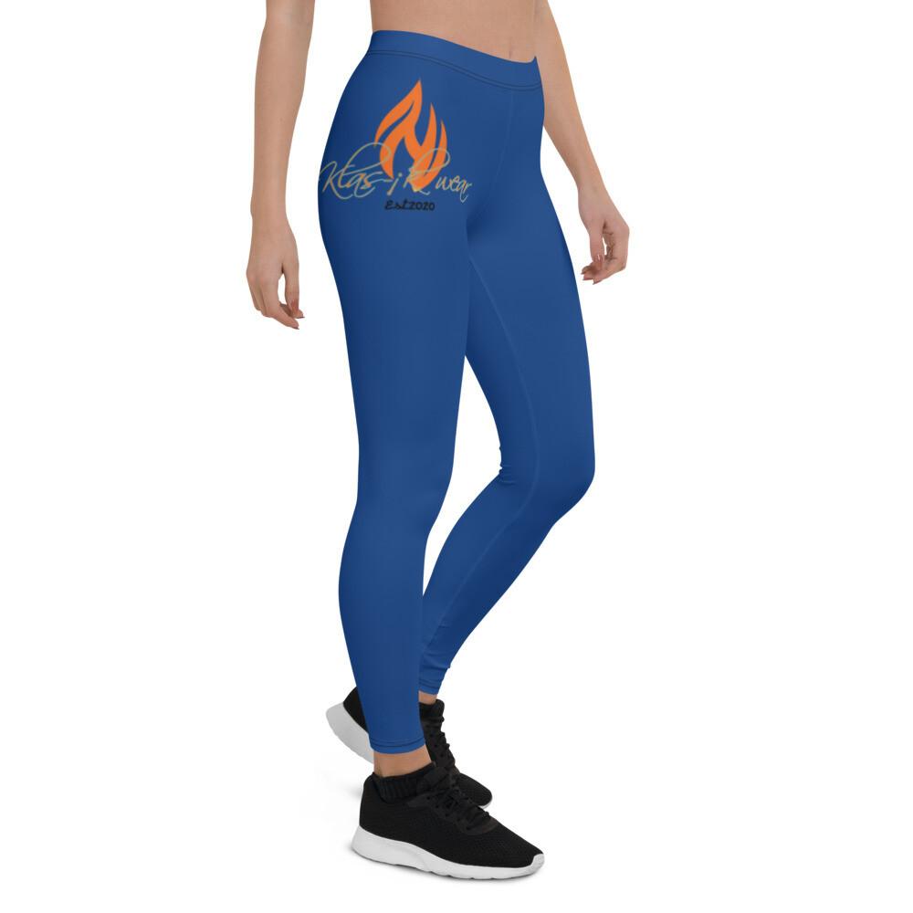 Royal Blue New Flame Klas-ik Wear Leggings